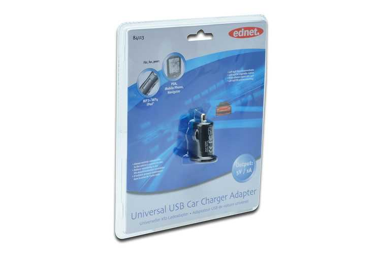 CHARGEUR ALLUME CIGARE USB 1 PORT 1x 1 A 84113-2