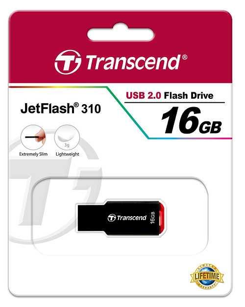 CLE USB 16 GO SERIE 310 NOIR USB 2.0 SANS CAPUCHON SLIM 16gjf310paperboard