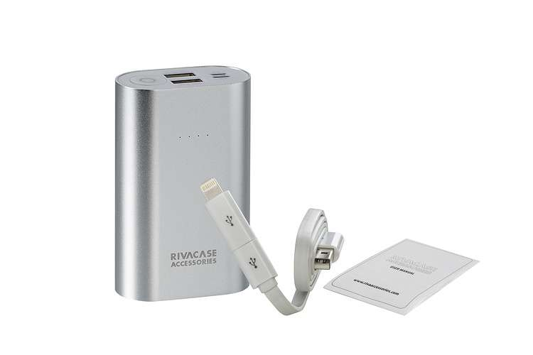 CHARGEUR VA1010 10 000 MAH 3.1A MICRO USB+LIGHTNING va1010