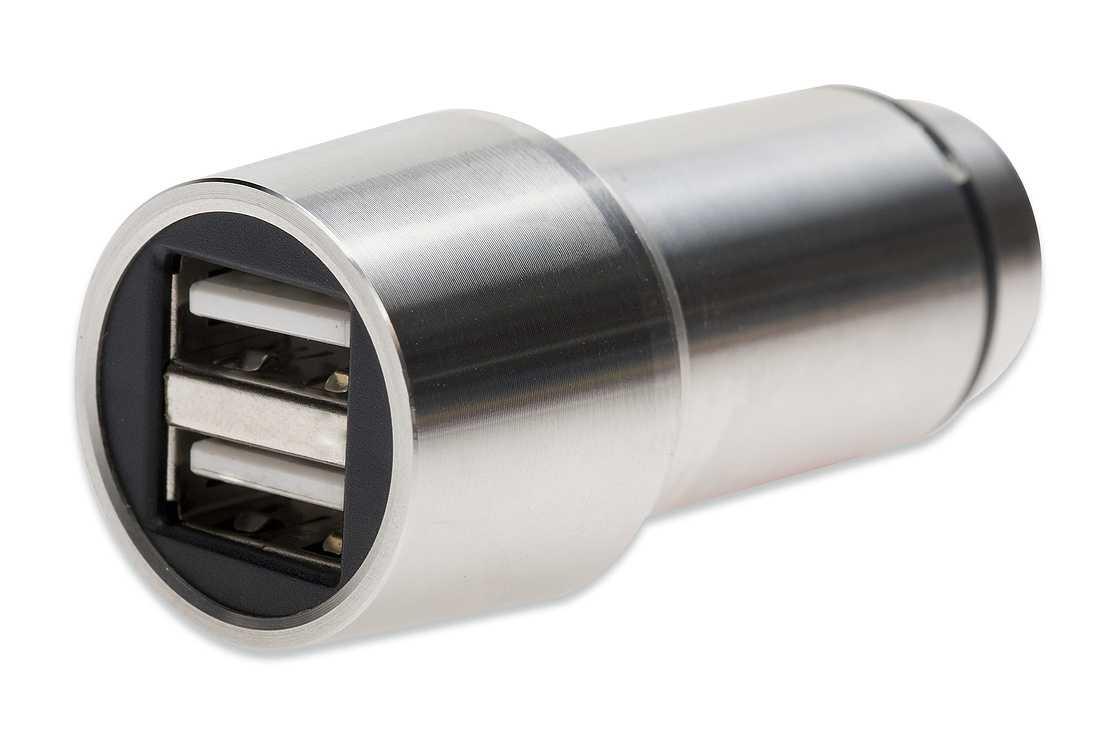 CHARGEUR ALLUME CIGARE USB 2 X 2.4A + MINI MARTEAU BRISE VITRE 0