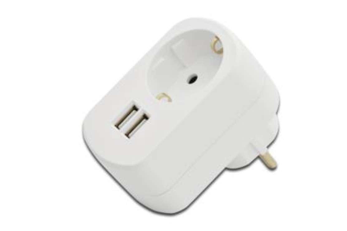 CHARGEUR SECTEUR USB SCHUKO + 2 X USB (1X1A + 1X2,1A) 31804fr