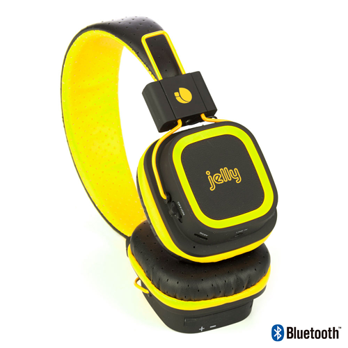 CASQUE AUDIO ARTICA JELLY BLUETOOTH JAUNE FLUO articayellowjelly-3