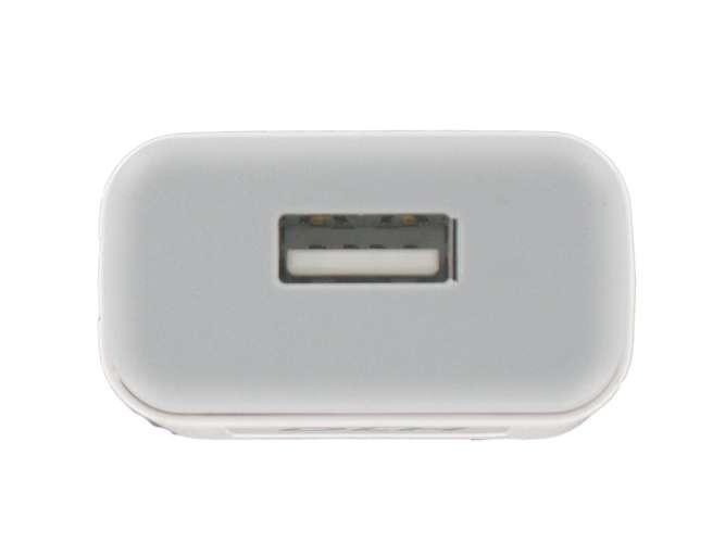 CHARGEUR SECTEUR UNIVERSEL 1 X USB 1A - 5 WATTS BLANC dy-au2160w-usb