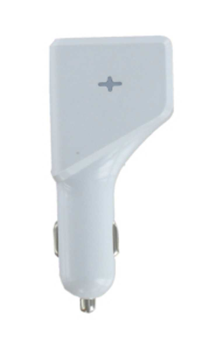 CHARGEUR VOITURE UNIVERSEL 4 X USB 4.8A 24WATTS BLANC dy-au2324w-facecopie