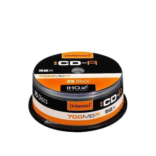 CD-R 80MN 52 X 700MB CAKEBOX (X25) 0