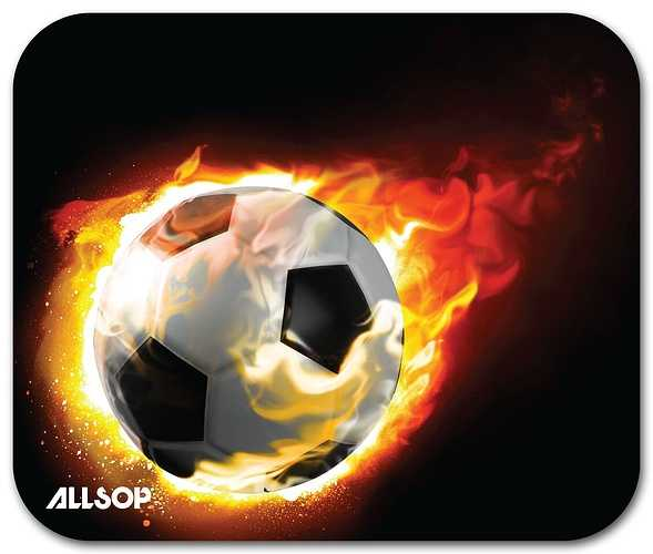 TAPIS SOURIS BLAZING FOOTBALL ANTIDERAPANT ANTISTATIQUE EP 4MM 0