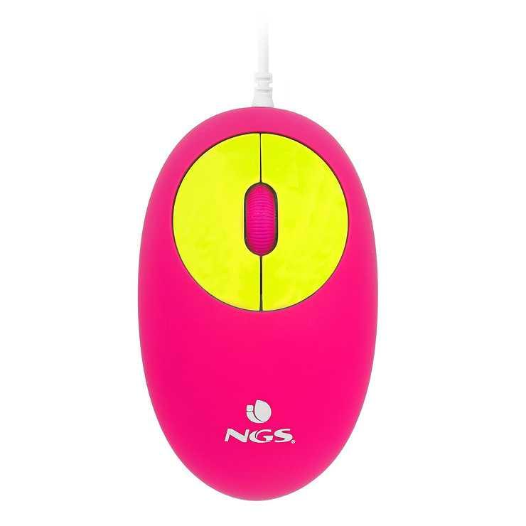 MINI SOURIS VIPMOUSE JAUNE / ROSE - FILAIRE - OPTIQUE - PORT USB vipmouseyellow