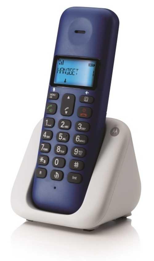 TELEPHONE FIXE SANS FIL T301 BLEU ROI DECT DESIGN t301lroyalbluenewmotocmyk