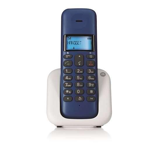TELEPHONE FIXE SANS FIL T301 BLEU ROI DECT DESIGN 0