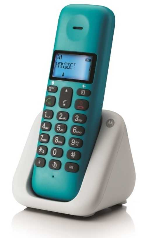 telephone fixe sans fil t301 turquoise dect design noriak. Black Bedroom Furniture Sets. Home Design Ideas