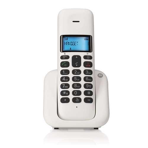 TELEPHONE FIXE SANS FIL T301 BLANC DECT DESIGN 0
