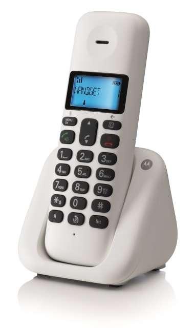 telephone fixe sans fil t301 blanc dect design noriak. Black Bedroom Furniture Sets. Home Design Ideas
