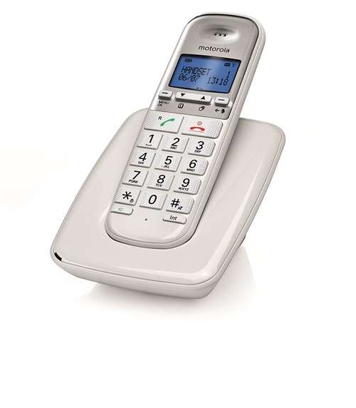 TELEPHONE SANS FIL S3001 BLANC compatible avec appareils auditifs s3001lwhitenewmotocmyk