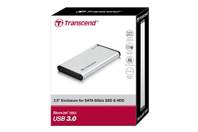 BOITIER EXTERNE POUR SSD/HDD 2.5 SATA SILVER S3 USB3.0/2.0 ts0gsj25s3-3