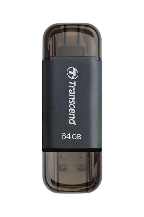 CLE USB OTG 64GO SERIE 300 NOIR LIGHTNING USB 3.1 PR APPLE ts64gjdj300k1