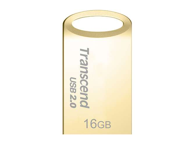CLE USB TRANSCEND 16 GO SERIE 510 OR USB 2.0 SANS CAPUCHON FORMAT MINI 0