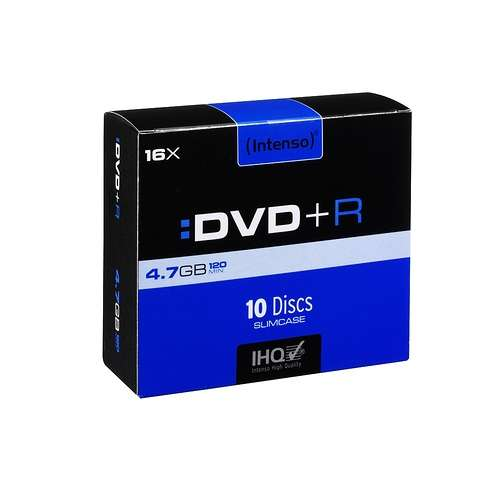 DVD+R 4.7 GO (16X) BOITIER SLIM (X10) 0