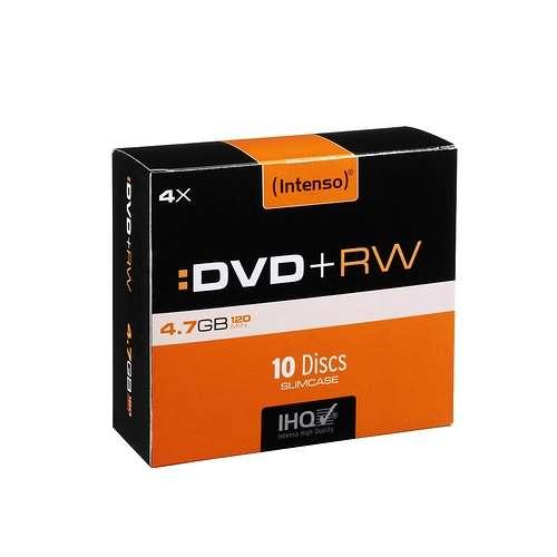 DVD+RW 4.7 GO (4X) BOITIER SLIM (X10) 0