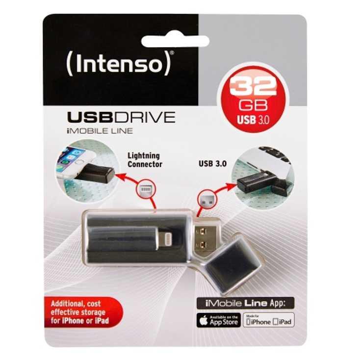 CLE USB 32GO SERIE IMOBILE NOIR LIGHTNING USB 3.0 3535480