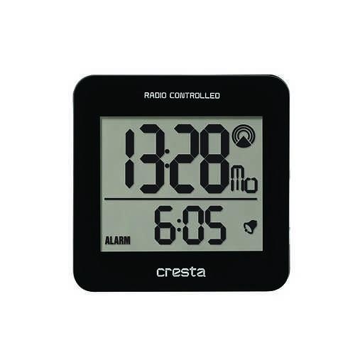 REVEIL LCD BLA210 REGLAGE HEURE AUTOMATIQUE NOIR 0