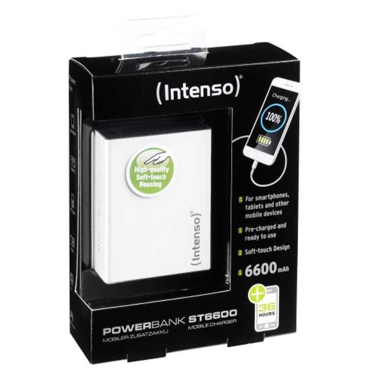 POWERBANK SERIE ST 6600MAH 5 V 2.1A 1X USB BLANC 7333522-1