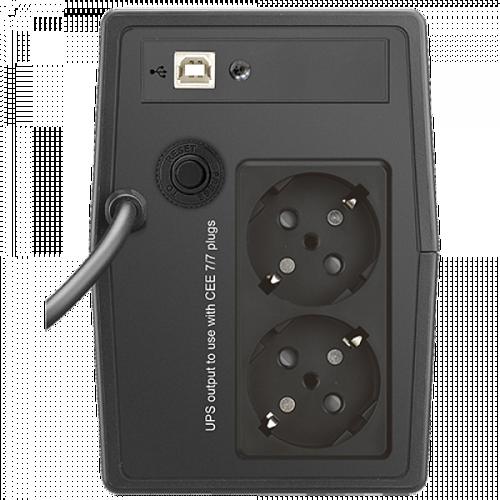 ONDULEUR X2 LCD TOUCH 500 VA 2 PRISES FR + USB 65998-3