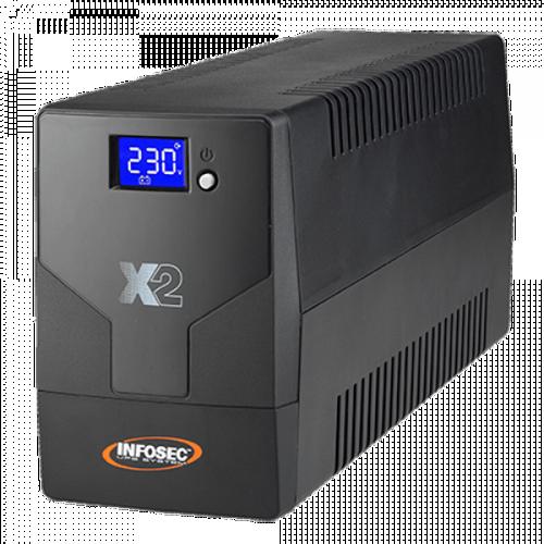 ONDULEUR X2 LCD TOUCH 500 VA 2 PRISES FR + USB 0