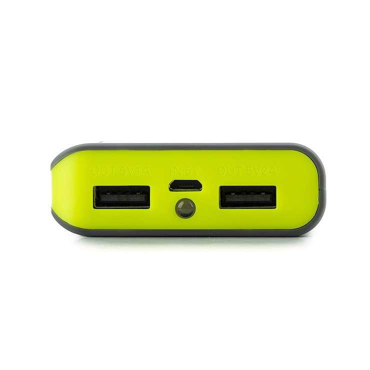 CHARGEUR POWERPUMP POUR TABLETTE 6600MAH GRIS/JAUNE powerpump6600lemon-2