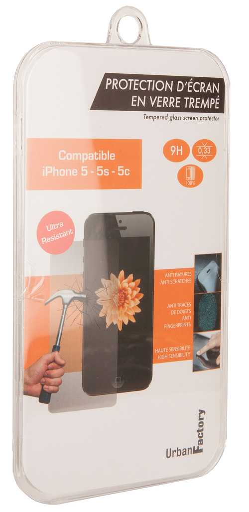 FILM DE PROTECTION ECRAN VERRE TREMPE IPHONE 5/5S/5C tgp01uf-2