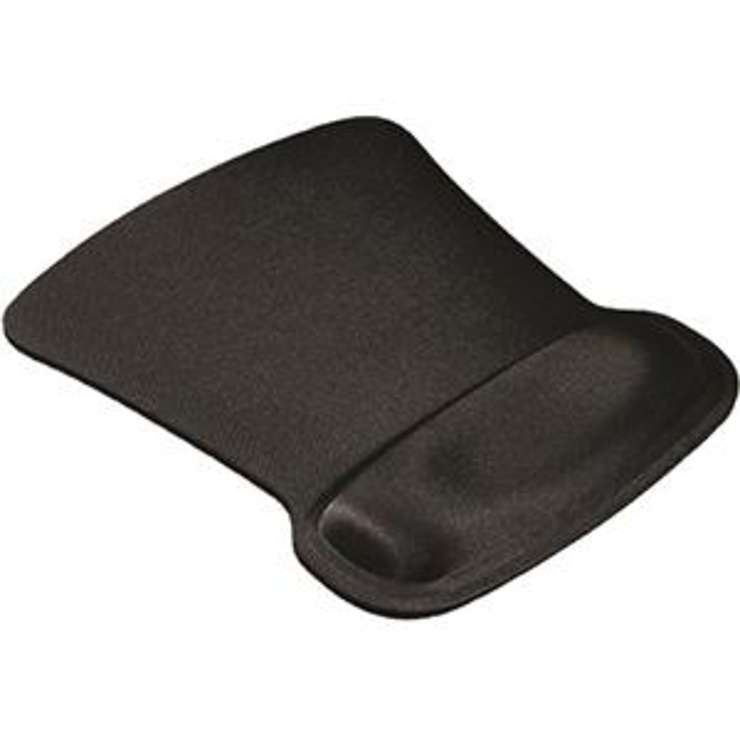 TAPIS SOURIS REPOSE POIGNET NOIR RECTANGLE 0