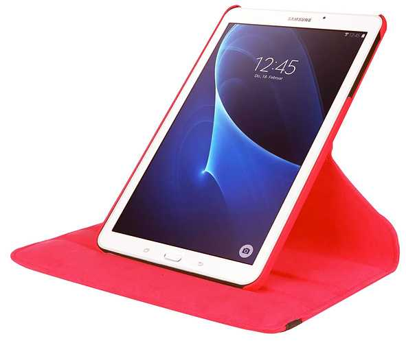 ETUI TABLETTE TAB A 2016 SAMSUNG 7'''' ROUGE ROTATIF taba67front2rouge