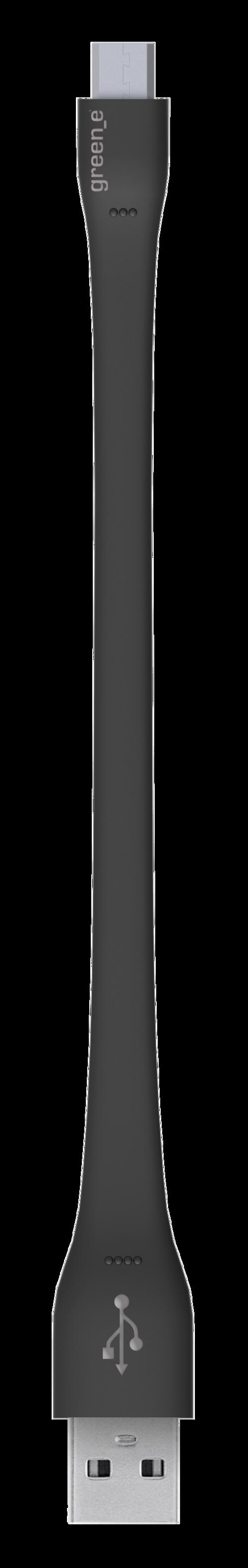 CORDON MICRO USB TPE XS 2,1A NOIR 15 CM gr1004-1