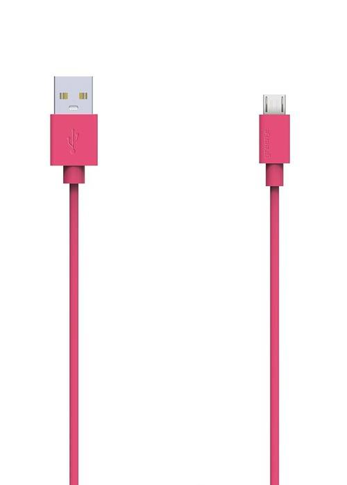 CORDON MICRO USB TPE 2,1A ROSE 90 CM 0