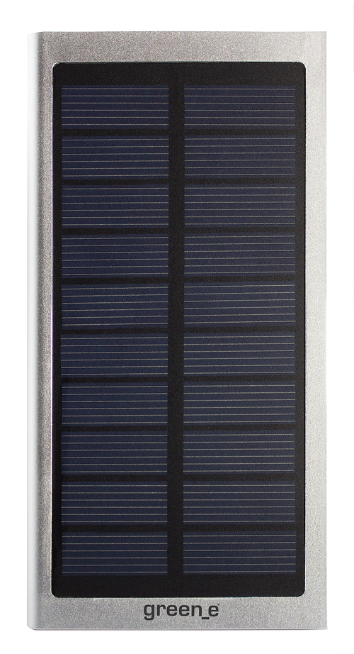 CHARGEUR SOLAIRE HYBRIDE - 8000mAh 2,1A + 1A 15V - Fonction Lampe torche. Bouton on-off - LED gr4002