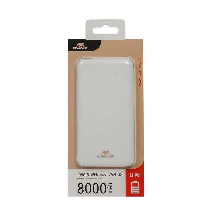 POWERBANK RIVAPOWER 8000 MAH 2A MICRO USB va2008-2