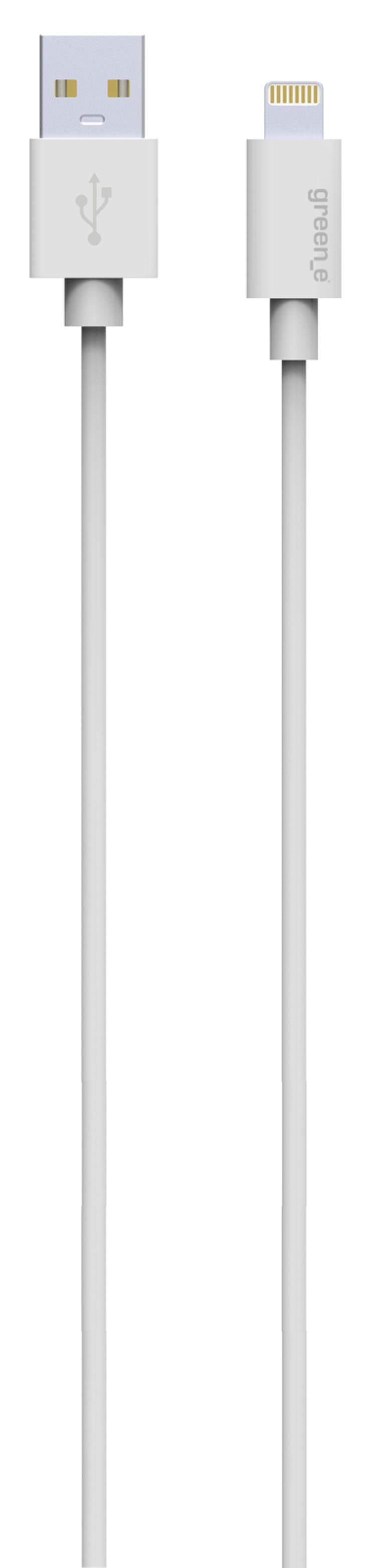 KIT CHARGEUR SECTEUR TURBO 1 X 2.4A + CORDON LIGHTNING + HOUSSE DE TRANSPORT EN COTON BIO gr3005
