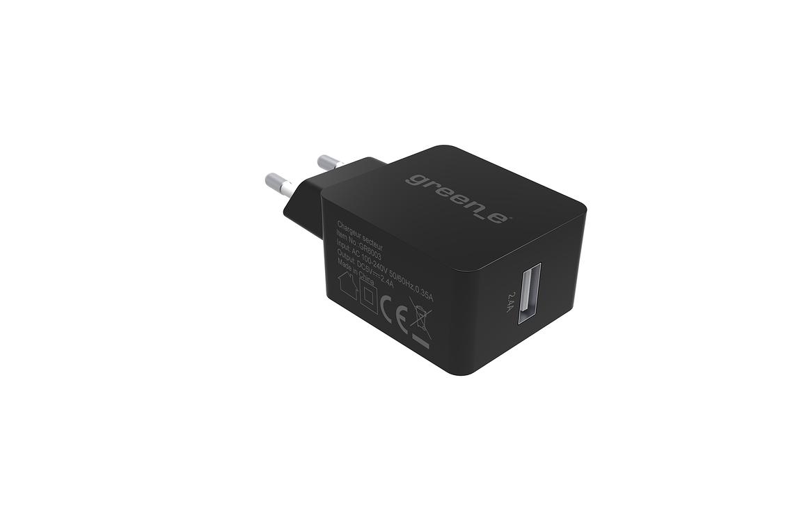 KIT CHARGEUR SECTEUR TURBO 1 X 2.4A + CORDON MICRO USB + HOUSSE DE TRANSPORT gr3006-2