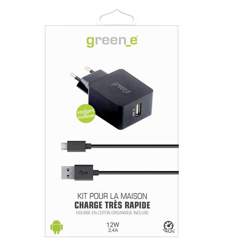 KIT CHARGEUR SECTEUR TURBO 1 X 2.4A + CORDON MICRO USB + HOUSSE DE TRANSPORT gr3006-packinghd