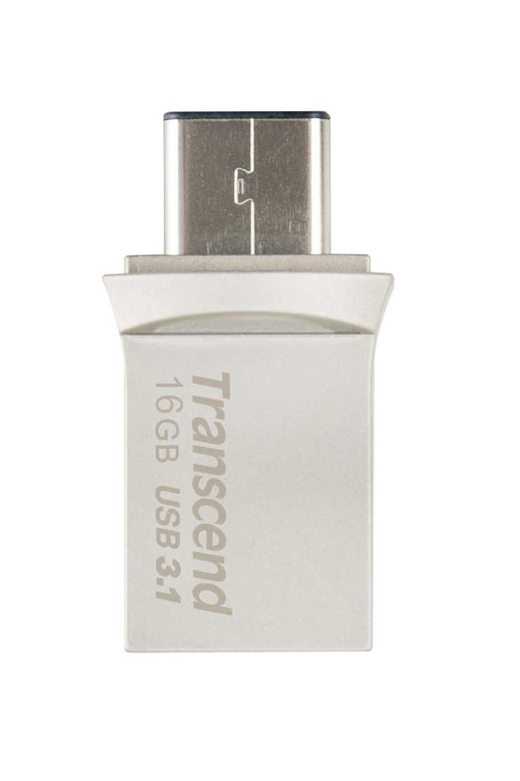 CLE USB 16GO SERIE 890 SILVER USB 3.1 TYPE C ts16gjf890s-2