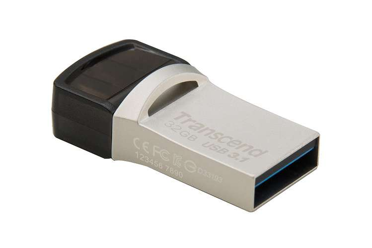 CLE USB 32GO SERIE 890 SILVER USB 3.1 TYPE C ts32gjf890s-2