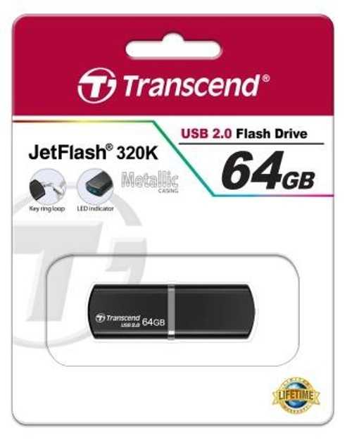 CLE USB 64GO SERIE 320K NOIR USB 2.0 64gjf320paperboard