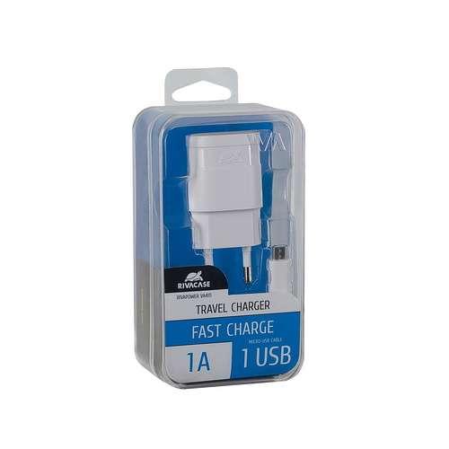 CHARGEUR SECTEUR UNIVERSEL 1 X USB 1A BLANC + CORDON MICRO USB 1M va4111wd1-2