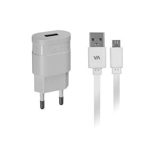 CHARGEUR SECTEUR UNIVERSEL 1 X USB 1A BLANC + CORDON MICRO USB 1M 0