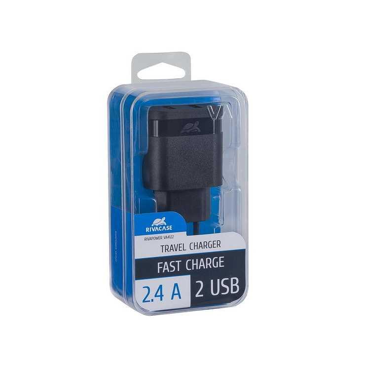 CHARGEUR SECTEUR UNIVERSEL 2 X USB 2.4A NOIR va4122b00-2