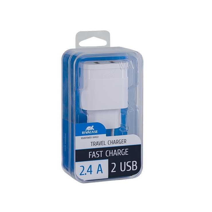 CHARGEUR SECTEUR UNIVERSEL 2 X USB 2.4A BLANC va4122w00-2