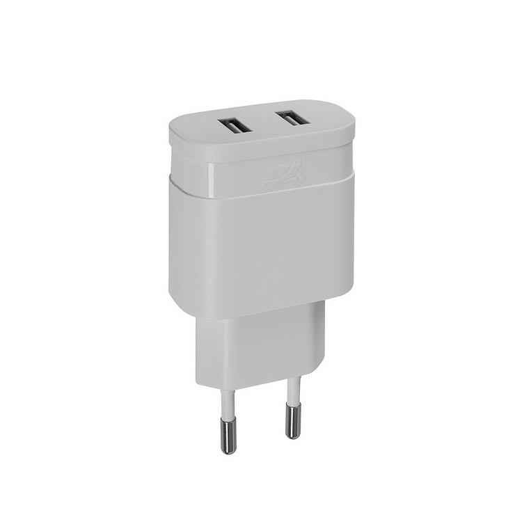 CHARGEUR SECTEUR UNIVERSEL 2 X USB 2.4A BLANC 0