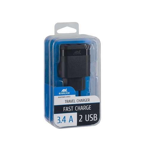 CHARGEUR SECTEUR UNIVERSEL 2 X USB 3.4A NOIR va4123b00-2