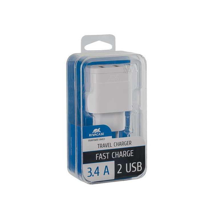 CHARGEUR SECTEUR UNIVERSEL 2 X USB 3.4A BLANC va4123w00-2