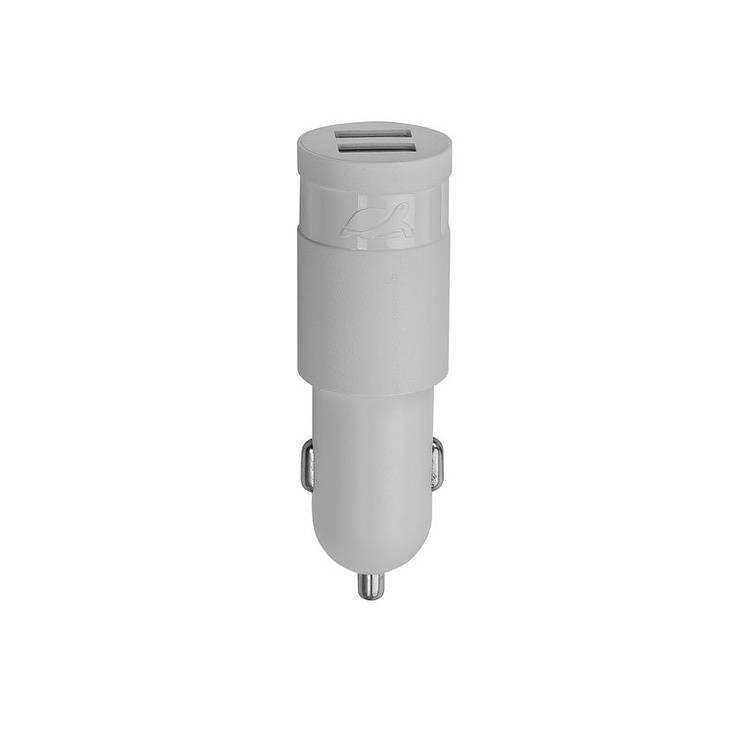 CHARGEUR VOITURE RIVAPOWER 2 X USB 2.4A BLANC 0