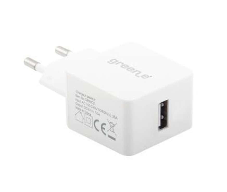 CHARGEUR SLIM TURBO MONO USB 1 A 5V BLANC 0